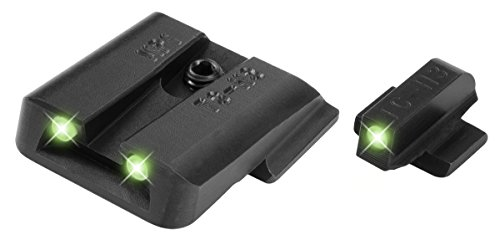Truglo Night Sights - TRUGLO Tritium Handgun Glow-in-the-Dark Night Sights for Smith & Wesson Pistols, Smith & Wesson M&P (including SHIELD models, excluding .22 Compact/CORE models), SD9 and SD40 (excluding VE models)