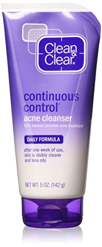 CLEAN & CLEAR Continuous Control Acne Cleanser 5 oz (Pack of 5)