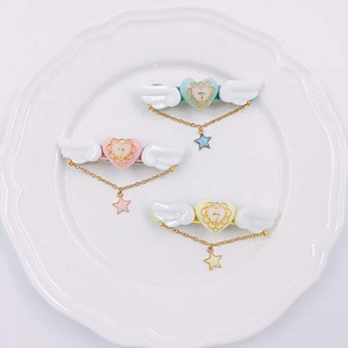 Wing hair barrettes Heart hair barrettes Cross barrettes swette lolita accessory Kawaii resin jewelry hairpin  gift for her angel wings
