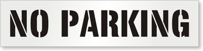 SmartSign ''No Parking'' Reusable Stencil | 12'' x 42'' Plastic by SmartSign (Image #1)