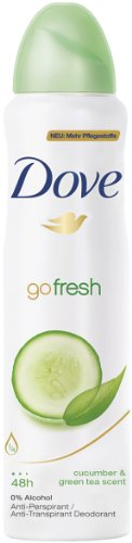 Dove Go Fresh Cucumber & Green Tea Deodorant 48h Spray 150 ml / 5 fl oz ()