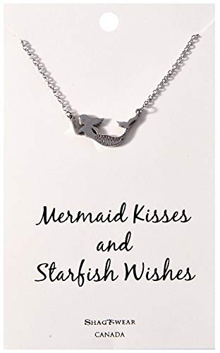 Shag Wear Make a Wish and Luck Inspirations Quote Pendant Necklace (Wishes, Mermaid Pendant)