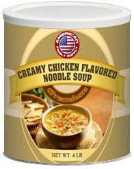 Fresh and Honest Foods Creamy Chicken Flavored Noodle Soup 64 OZ #10 Can ()