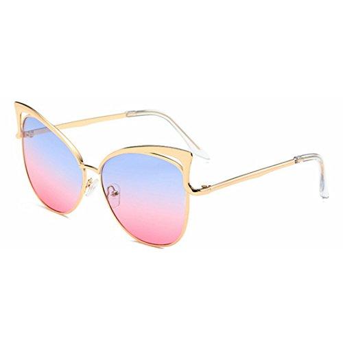 Lens Silver Color Glasses Sakuldes de pink Clear Soleil Blue Lunettes Lady Frame HXnnAxzYqw