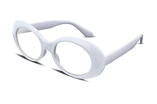 2ba31cf8ca FEISEDY Candy Retro Acetate Frame Clout Goggles Kurt Cobain Sunglasses B2253  White-transparent