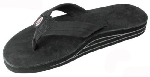 Rainbow Sandals Mens Double Layer Premier Leather Sandal Black Size Small 7 5 8 5 Premiere Leather