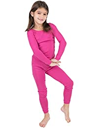 1a8a1af054 Kids Pajamas Boys   Girls Solid Colors 2 Piece Pajama Set 100% Cotton (Size