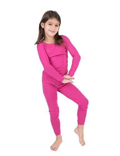 Leveret Kids Pajamas Boys & Girls Solid Hot Pink 2 Piece Pajama Set 100% Cotton Size 8 Years