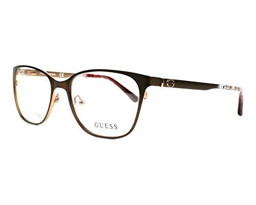Guess Brown Eyeglasses - GUESS Eyeglasses GU2629 049 Matte Dark Brown