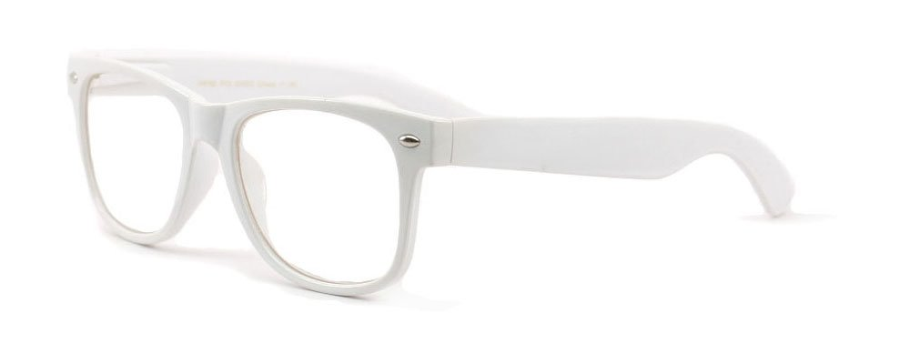White Clear Reading Glasses - Comfortable Stylish Simple Readers Rx Magnification vw-rd-w2