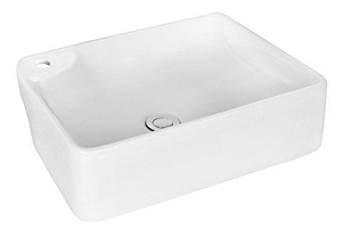 - American Imaginations AI-11028 Above Counter Rectangle Vessel for Single Hole Faucet, 17.32