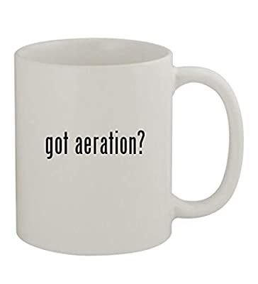 got aeration? - 11oz Sturdy Ceramic Coffee Cup Mug, White