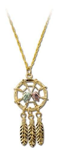 Landstroms 10k Black Hills Gold Dreamcatcher Pendant Necklace, 18