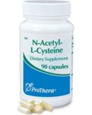 Prothera NAC (N acetyl l cysteine) 90 Capsules with Pill Box