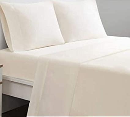 Calico Homes 600 Thread Count Solid Pattern 8 Inches Deep Pocket 100/% Egyptian Cotton 4 Piece Sheet Set King Size White Color