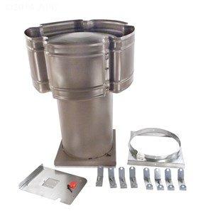 Wind Stack Outdoor Draft Hood Replacement for Hayward H400 H-Series 400K-BTU Millivolt Gas Heater (400000 Btu Natural Gas Heater)