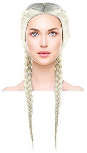 Womens Blonde Boxer Braid Wigs Long Hairpiece for Cosplay Dress Up Costume Party -