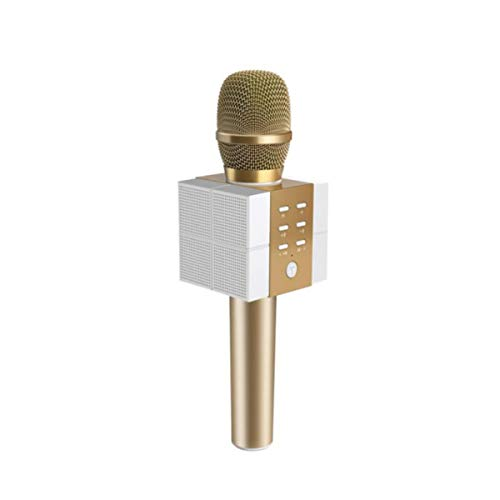 Karaoke, Microphone, Karaoke Artifact, Wireless Bluetooth Microphone, Champagne Gold (Color : Gold)