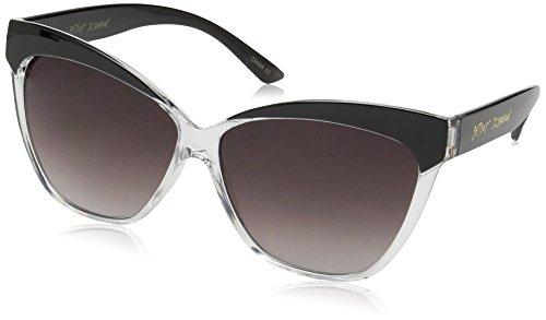 Betsey Johnson Women's Willow Cateye Sunglasses, Clear, 60 - Johnson Case Betsey Sunglasses