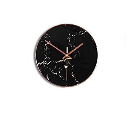 Amazon.com: zsqebd Wall Clock Simple Sala De Estar Moderna ...