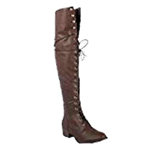 Breckelle's Women's Alabama-12 Knee High Riding Boots (6, Brown)