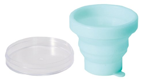 Mobile gargle cup light blue you can fold Myrna (japan import)