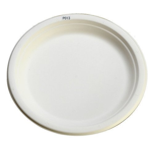 Sturdy paper plates disposable, P013 50 pieces of stylish e mold very popular Eco-friendly in the classic size 23cm (japan import)