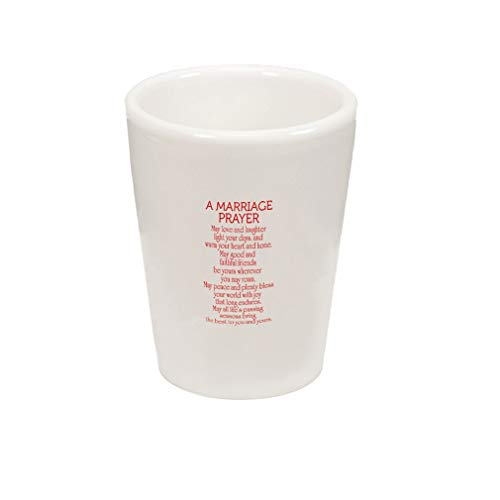 Style In Print Red A Marriage Prayer May Love and Laughter Warm and Home May Good and Faithful Friends Be Yours Wherever You May Roam Ceramic Shot Glass Cup