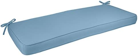 Comfort Classics Inc. Sunbrella Outdoor Bench Cushion Boxed Welted in Sky Blue