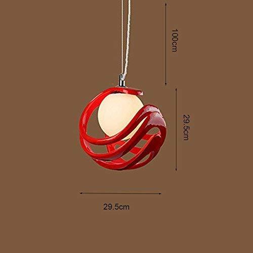 Lamps Lampada da Soggiorno Minimalista Moderna, Lampada da Letto, Lampada da Sala da Pranzo, Lampada Fissa per la casa,Rosso
