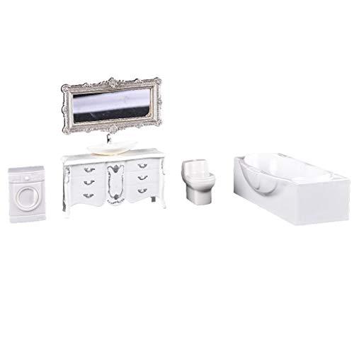 Flameer 1/Set European Style Home Ornaments Model Bathrom Furniture Miniatures 1:25 Scale Model