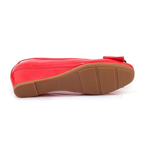 36 5 Rouge Red Compensées APL10871 BalaMasa Femme Sandales qY44wR