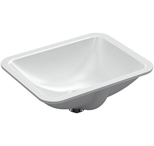 KOHLER K-20000-95 Caxton Rectangle 20-5/16 in. x 15-3/4 in. Undermount Bathroom Sink, Ice -