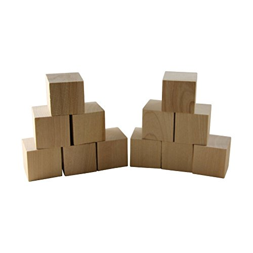 """Wooden Cubes 1.5"""" Inch 