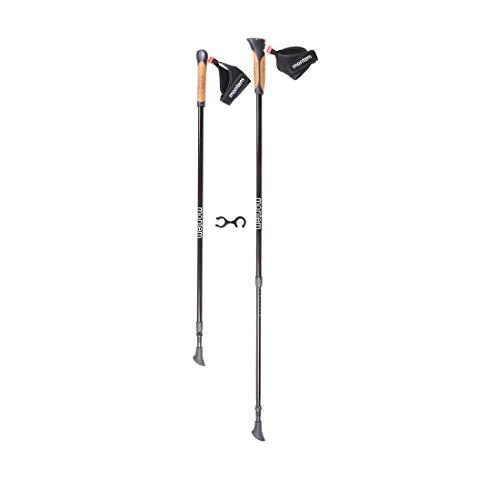Montem Nordic Walking/Fitness/Hiking/Trekking Poles (Black)