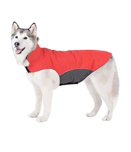 YiJee Chubasquero Chaqueta Abrigo Impermeable para Medianas Y Grandes Mascotas Perro Rojo 5XL