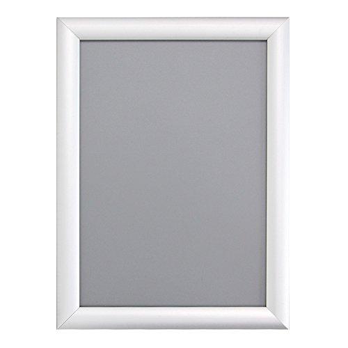 "VIZ-PRO A3 Silver Snap Frames / Clip Frames, Mitred Corner, 0.98"" Aluminum Profile"