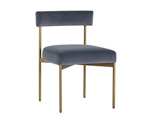 Sunpan 103365 Zenn Dining Chairs, Slate