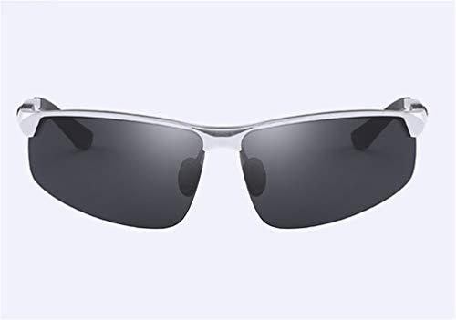 Sol Personalidad Metal Conducción de Frame Ultra Light Hombres Al Gafas Moda Black de MG XIYANG Polarized la Silver Sport E80qOwI