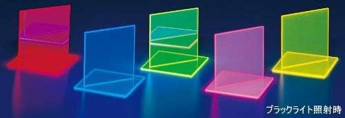 集光アクリル板 500×500×2mm 蛍光ピンク