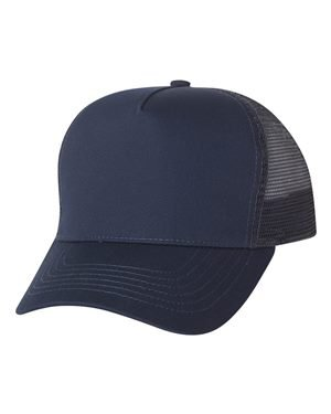Mega Cap - Five Panel PET Mesh Back Trucker - 6886-Navy ()