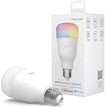 Yeelight Smart LED WiFi Tune-able Color Change RGB Light Bulb Dimmable E26 E27 Google Assistant Apple Homekit Alexa