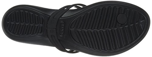 Isabella Tongs Crocs Black Femme Noir 610wxOvqvp