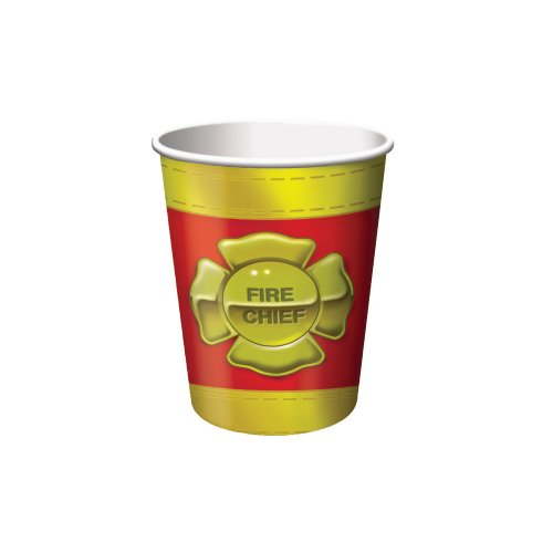 Firefighter 8 Count Paper Cups, 9-Ounce (Firefighter Cups)