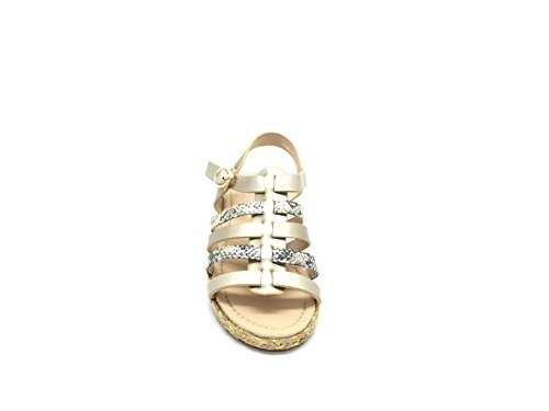 CHIC NANA Women's Fashion Sandals Gold TropDML9aK
