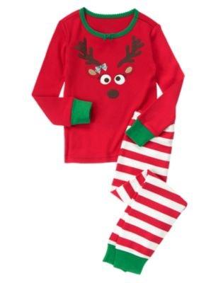 gymboree reindeer pajama set