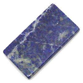 천연 석 청금석유리 돌 스퀘어 템플렛 루스 액세서리 부품 ti-pa-710 / Natural Stone Lapis Lazuli  Ruriishi Square Plate Loose Accessory Parts ti-pa-710