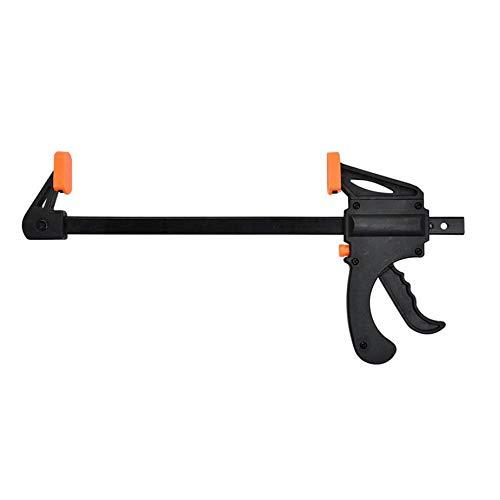 Debodah 4 inch Wood Working Bar Clamp Quick Ratchet Release Speed Squeeze F-type Clip Manual Spreader Gadget DIY Hand Tool