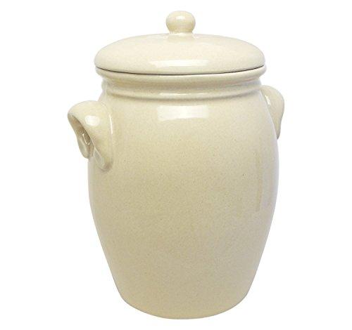 Original K&K Rumtopf 5,0 Liter - Form 2 - beige / Steinzeugtopf