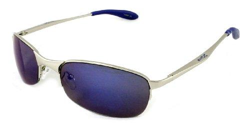 X-Loop Sport Matrix Style Sunglasses Silver Blue - Matrix Sunglasses Style